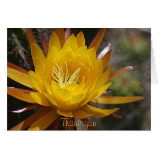 Gelbe Kaktus-Blume Grußkarte