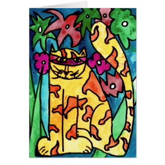 Gelbe Katze • Nick Abrams, altern 8 - Karte