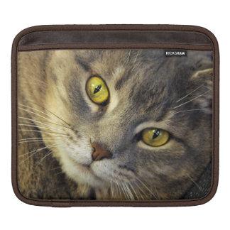 Gelbe mit Augen Kitty-Katze - iPad Rickshaw-Hülse iPad Sleeves