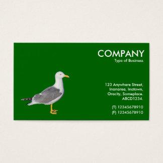 Gelbe mit Beinen versehene Möve - Grün 006600 Visitenkarte