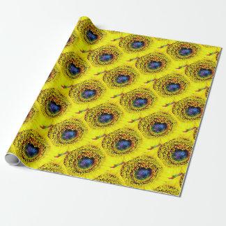 Gelbe Nahaufnahme Geschenkpapier