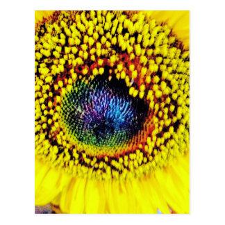 Gelbe Nahaufnahme Postkarte