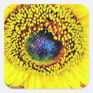 Gelbe Nahaufnahme Quadratischer Aufkleber