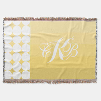 Gelbe Ombre moderne moderne Hochzeit Decke