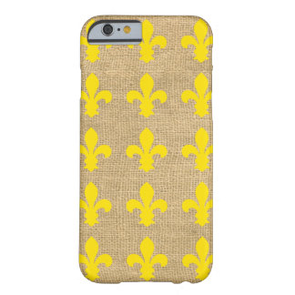 Gelbe Pariser Moods Fleur de Lys Barely There iPhone 6 Hülle