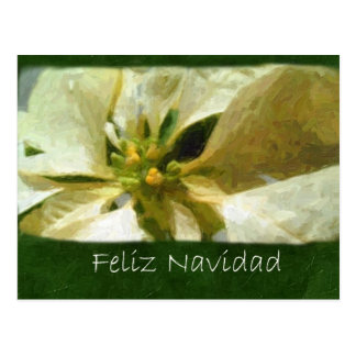 Gelbe Poinsettias 1 Painterly - Feliz Navidad Postkarte