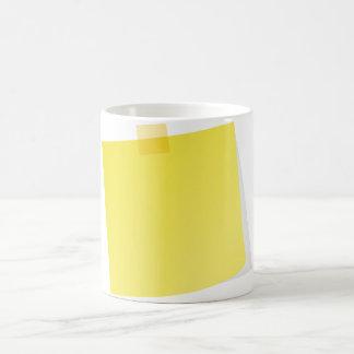 Gelbe Post-Itanmerkungs-Tasse Kaffeetasse