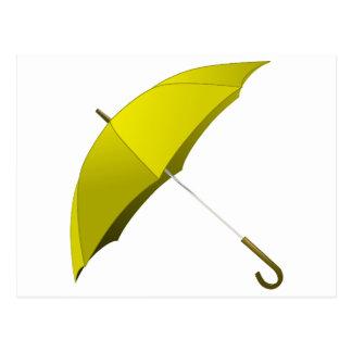 Gelbe Regenschirm-Hong Postkarte