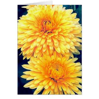 Gelbe Ringelblume Grußkarte