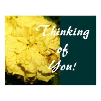 Gelbe Ringelblume Postkarte