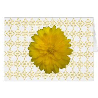 Gelbe Ringelblumen-Gruß-Karte Karte