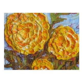 Gelbe Ringelblumen Postkarte