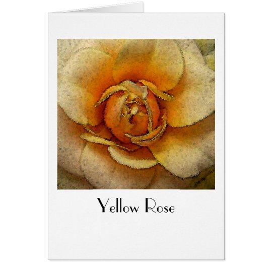 Gelbe Rose Grußkarte