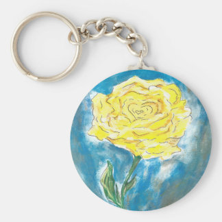 Gelbe Rose Keychain Schlüsselanhänger