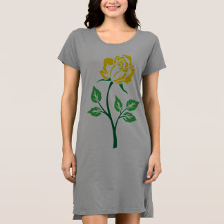 Gelbe Rose kundengerecht Kleid