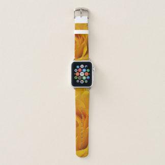 Gelbe Rosen-Blumenblatt-Garten-Blumen abstrakt Apple Watch Armband