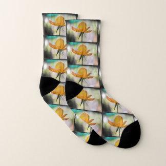 Gelbe Rosen-Knospen-Socken Socken