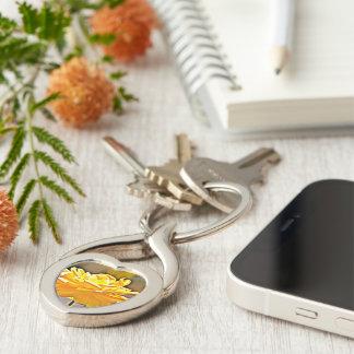 Gelbe Rosen-Schlüsselkette Schlüsselanhänger