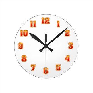 Gelbe rote Mischungs-Uhr-Schablone Uhr