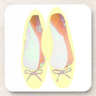 Gelbe Schuhe Getränkeuntersetzer