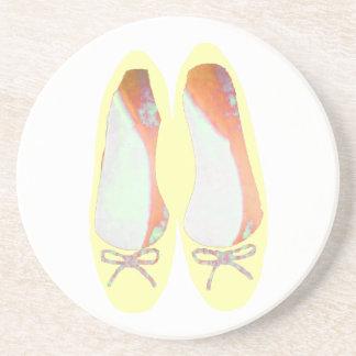 Gelbe Schuhe Untersetzer