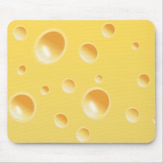 Gelbe Schweizer Käse-Beschaffenheit Mousepads