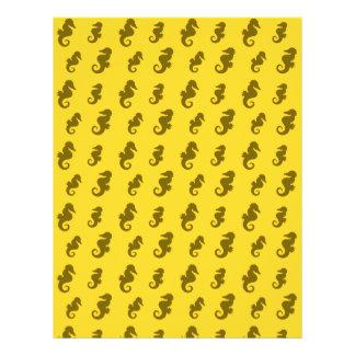 Gelbe Seepferde 21,6 X 27,9 Cm Flyer