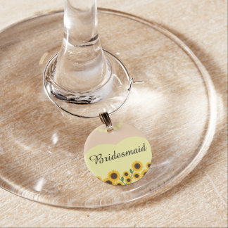 Gelbe Sonnenblume-Brautjungfern-Hochzeit Glasdekorierung