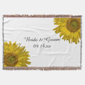 Gelbe Sonnenblume-Hochzeit Decke