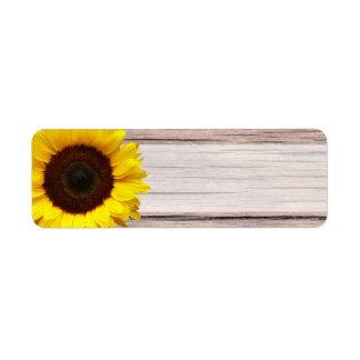 Gelbe Sonnenblume-Hochzeit oder allgemeine Kleiner Adressaufkleber