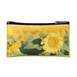 Gelbe Sonnenblume-Kosmetik-Tasche Makeup-Tasche