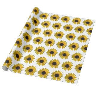 Gelbe Sonnenblumen Geschenkpapier