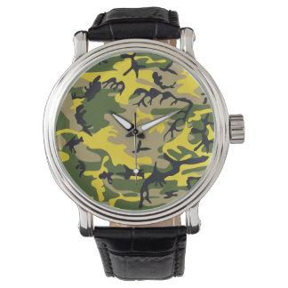 Gelbe Tarnung Uhren