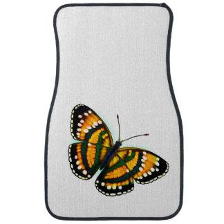 Gelbe tropische Schmetterlings-Auto-Boden-Matten Automatte