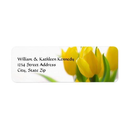 Gelbe Tulpe - Adressen-Etikett