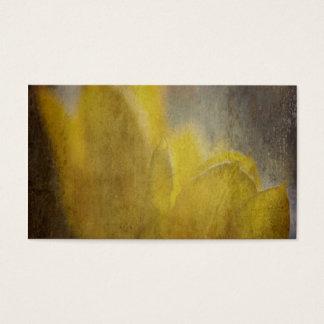 Gelbe Tulpe-Blumen-rustikale Blumenkunst Visitenkarte