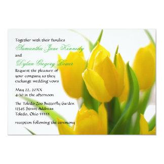 Gelbe Tulpe - Hochzeits-Einladung Karte