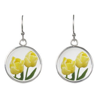 Gelbe Tulpe-Ohrringe Ohrringe
