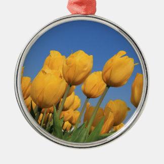 Gelbe Tulpen durch Thespringgarden Silbernes Ornament