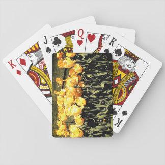 Gelbe Tulpen Spielkarten