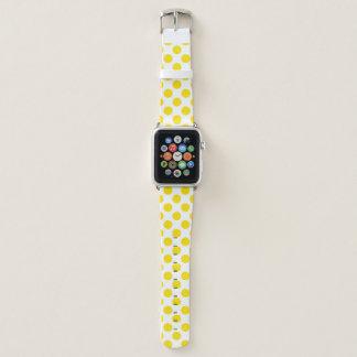 Gelbe Tupfen Apple Watch Armband