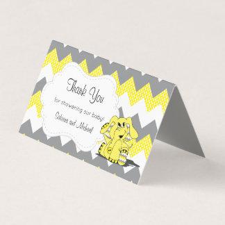 Gelbe u. graue Zickzack Süßigkeits-Deckel des Visitenkarten
