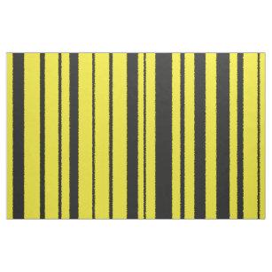 Gelbe u. schwarze Hummel-Bienen-Farbe Stripes Stoff