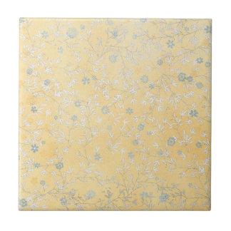 gelbe und graue Wildblumen Keramikkachel