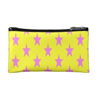 gelbe und rosa starcolors kleine kosmetische Makeup-Tasche