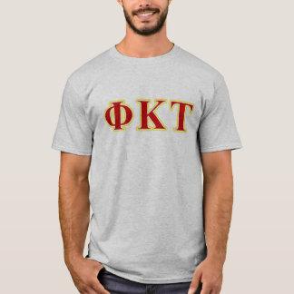 Gelbe und rote Buchstaben Phi-KappaTau T-Shirt