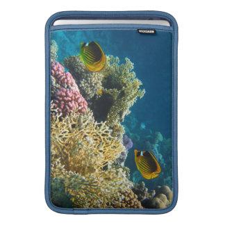 Gelbe und schwarze Schmetterlings-Fische Sleeve Fürs MacBook Air