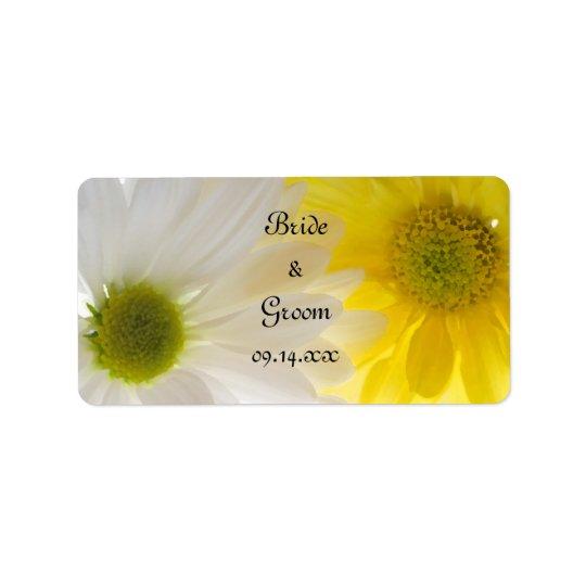 Gelbe und weiße Gänseblümchen-Gastgeschenk Adressaufkleber