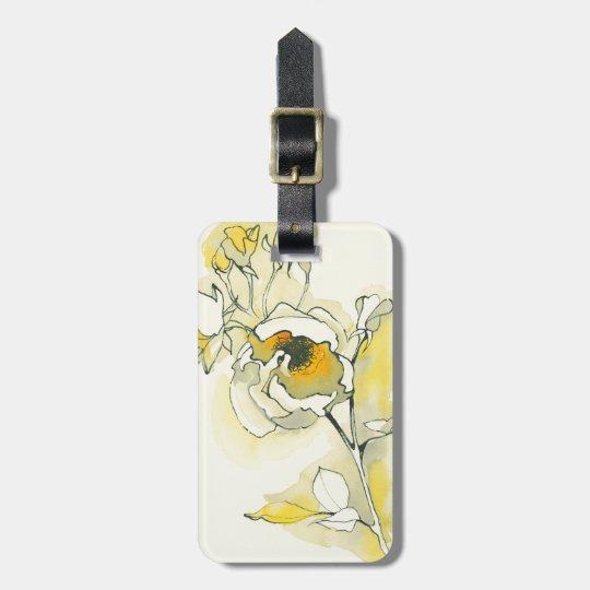 Gelbe und weiße Rosen Kofferanhänger