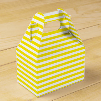 Gelbe und weiße Streifen, die Party Wedding sind Geschenkschachtel